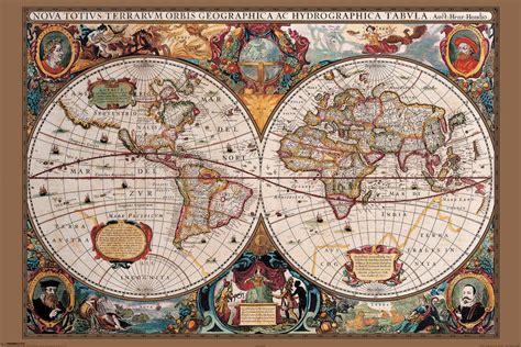 carte du monde du 17 232 me si 232 cle poster affiche acheter le sur europosters fr