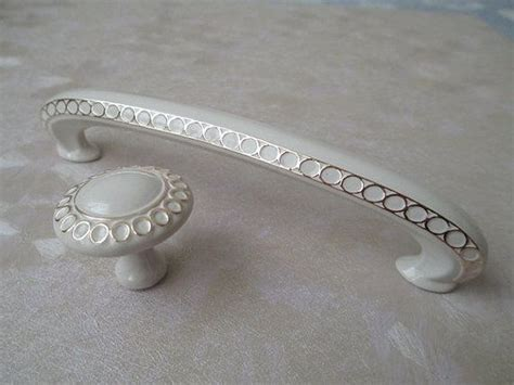 french country cabinet hardware 3 3 4 quot dresser drawer pulls handles knob white gold