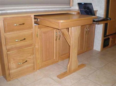 desk with slide out table custom slideout rv desk rv stuff pinterest laptops