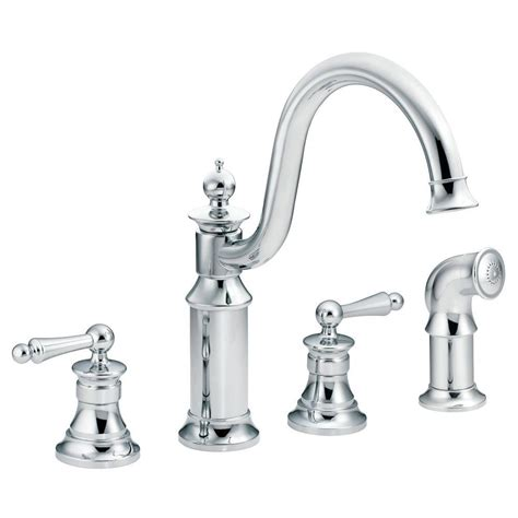 home depot moen kitchen faucets moen waterhill high arc 2 handle standard kitchen faucet