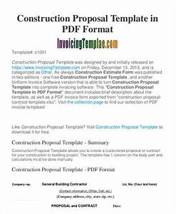 Construction Business Proposal Templates - 10 Free Word ...