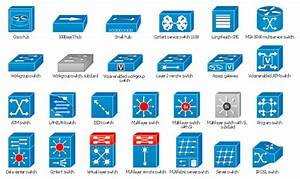 Cisco Switches And Hubs  Cisco Icons  Shapes  Stencils And