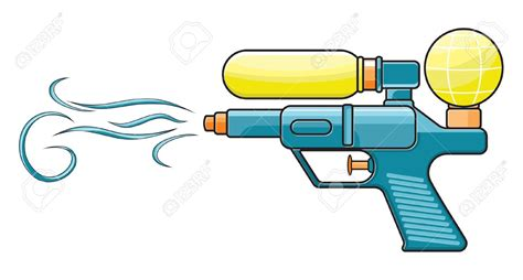 Pencil And In Color Gun Clipart