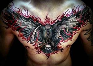 27+ Flame Tattoos On Chest