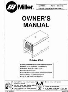 Miller Pulstar 450 Manual