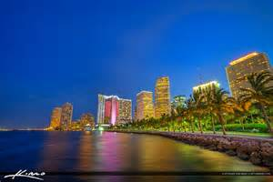 Downtown Miami City at Night