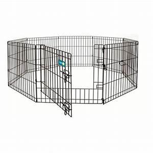 Aspen pet exercise pen with door 281550 kennels beds for Dog exercise pen with door