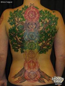 Beautiful Seven Chakra With Tree Tattoo. Crown, Third Eye ...