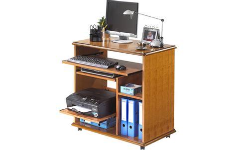 bureau pliable mural bureau informatique complet en bois merisier lyon
