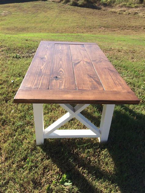 farmhouse table farm table  bench wood  boardmancowoodworks