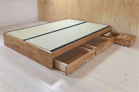 Contemporary Platform Double Bed Solid Oak