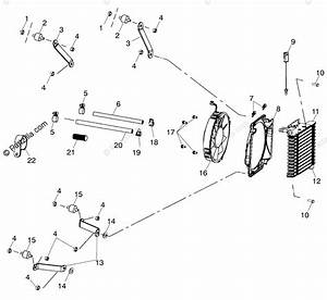 Polaris Atv 2000 Oem Parts Diagram For Oil Cooling A00cd32aa  4949404940a011