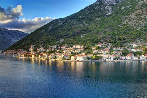 Montenegro Houses Rivers Mountains Scenery Dobrota Kotor ...