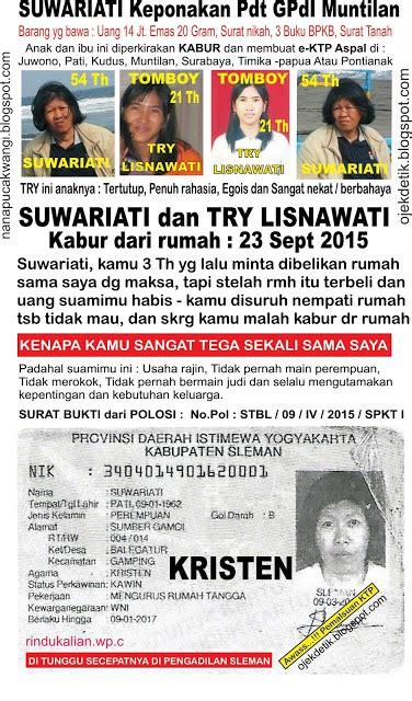 anak hilang penculikan  ktp ganda aspal istri kabur ipar yg jahat timika surabaya