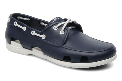 Crocs Boat Shoes by Crocs Line Boat Shoe Lace Up Shoes In Blue At