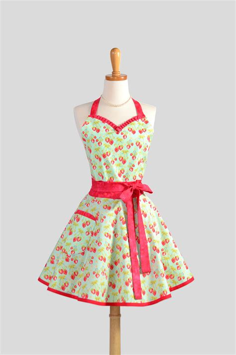 Girly Kitchen Aprons by Sweetheart Retro Apron Kitchen Apron In And