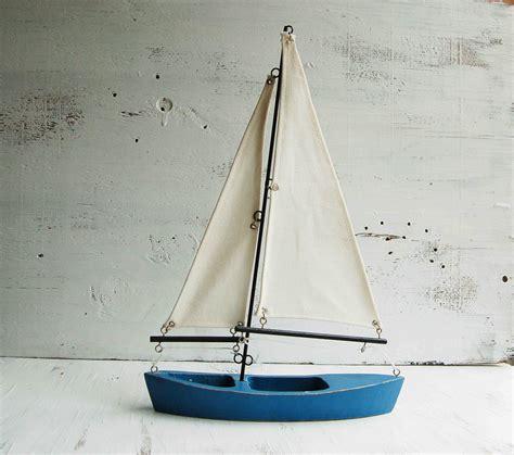 wooden sailboat wall decor vintage sailboat wooden boat sailor nautical cottage