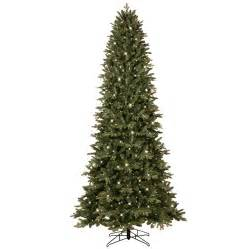shop ge 9 ft 3467 count pre lit aspen fir slim artificial tree with color changing 700
