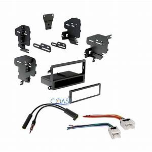 Single Din Install Stereo Dash Kit   Antenna   Harness For