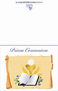 Biglietti Prima Comunione Da Stampare Mamma E Bambini