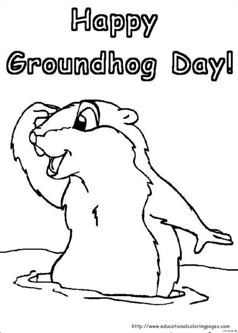 groundhog day coloring pages educational