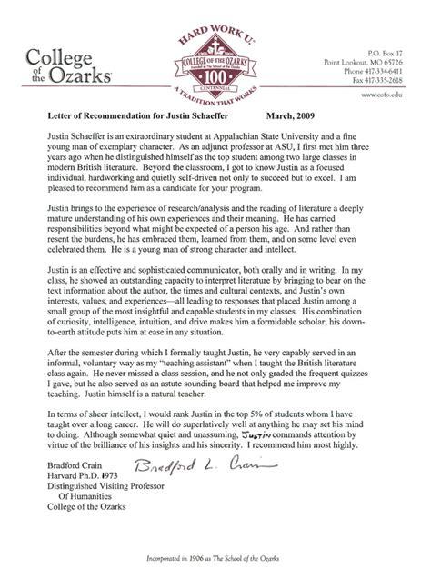 recommendation letter  phd student  professor