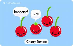 Cartoon cherry tomato joke | Food humor | Pinterest