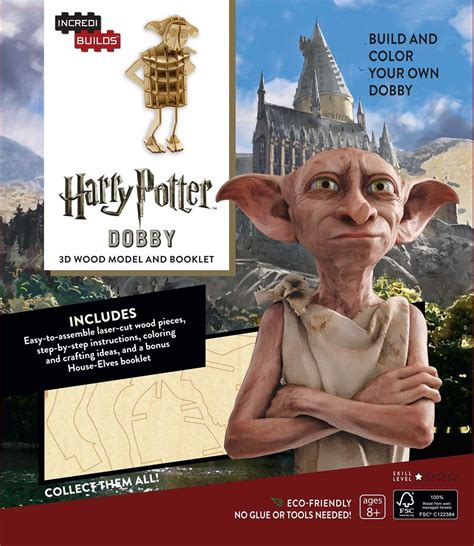 incredibuilds  wooden dobby kit harry potter gifts