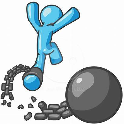 Breaking Chain Ball Clip Clipart Adversity Graphic