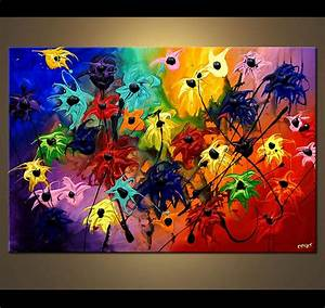 Painting - bold colorful flowers #3988