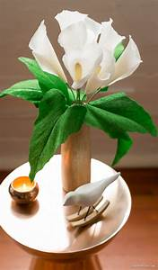 Crepe Paper Calla Lily - BigDIYIdeas com