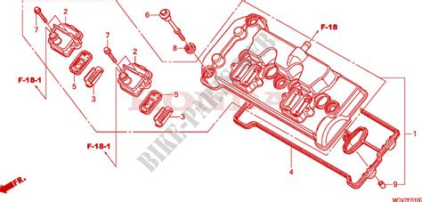 cylinder head cover for honda cbr 600 f abs 2011 honda motorcycles atvs genuine spare parts