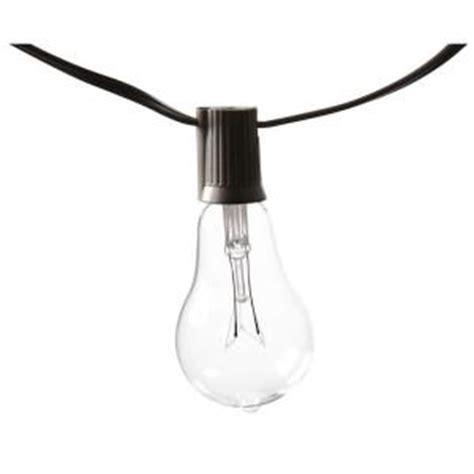 home depot edison lights edison 10 light outdoor decorative clear bulb string light