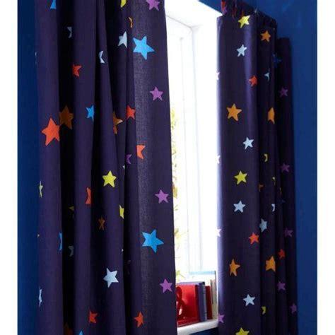 boys blue outer space rocket star curtains nursery