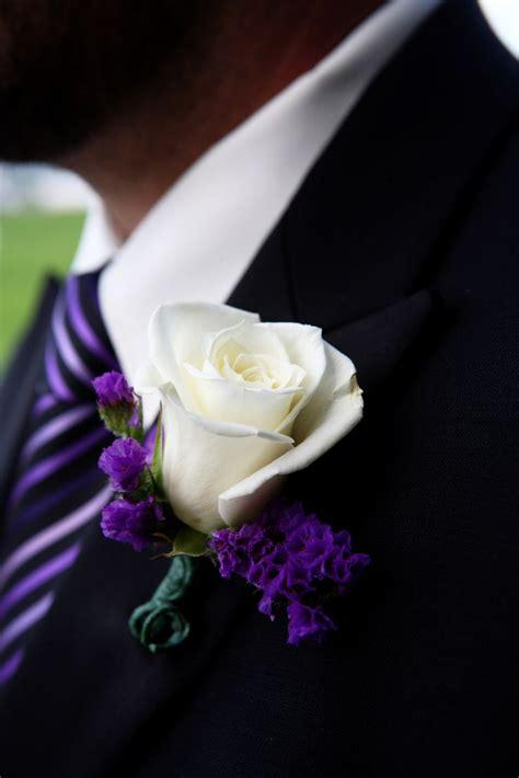 White And Purple Boutonniere  wwwpixsharkcom Images