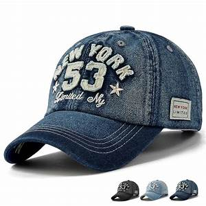 2016 new brand high quality denim baseball cap letter for Letter patches for hats