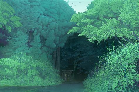 Forest Anime Wallpaper - nature landscape forest trees anime wallpapers hd
