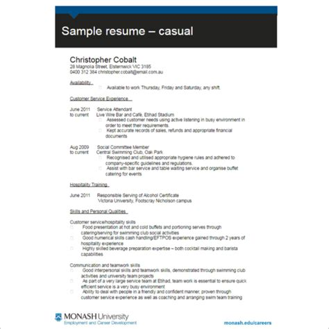Resume Format Exles by 100 Resume Format Templates Free Word Pdf Doc Formats