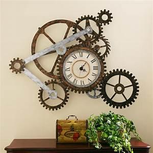Amazon com: Southern Enterprises Metal Gear Wall Art Clock