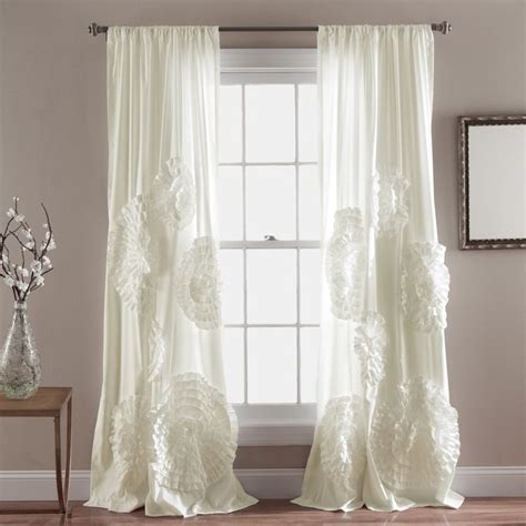 Lush Decor Serena Curtain Panel by Best 25 Curtain Behind Headboard Ideas On Pinterest