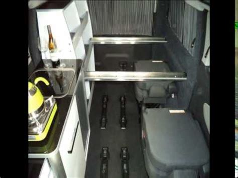 ford transit custom tourneo auto campers  floor plan