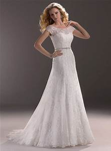 a line sweetheart lace wedding dress with short sleeve With wedding dress with short sleeves