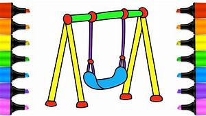 Swings for Kids. How to draw and color a swing | Drawing ...