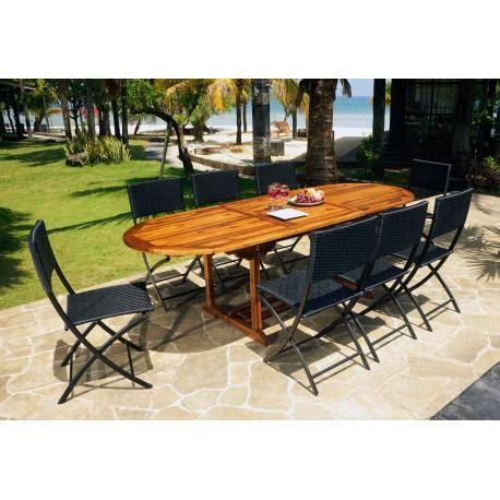 ensemble table et chaise exterieur ensemble extérieur table java 240cm et 8 chaises fidji