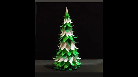 christmas tree out of paper paper tree easy to do