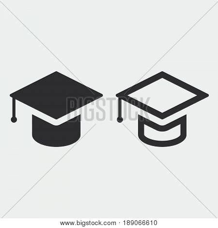 14995 graduation cap icon vector graduation cap icon solid outline vector photo bigstock