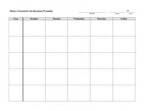 Spreadsheet Form Monday Friday Calendar Template Printable Free Calendar Template