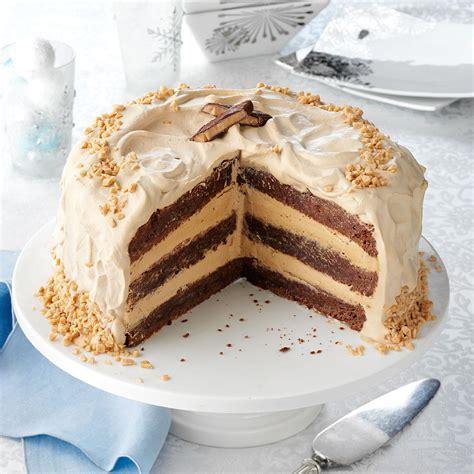 Toffee Bar Brownie Torte Recipe   Taste of Home