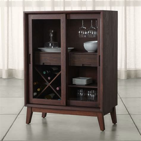 steppe wine bar cabinet crate  barrel