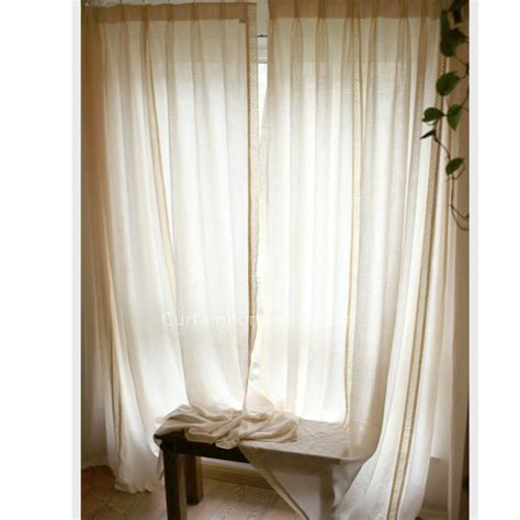 cotton and linen fabric sheer curtains